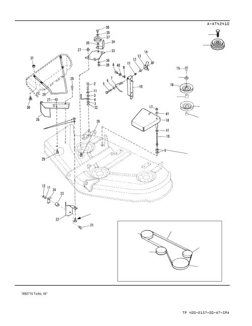 small resolution of belt routing simplicity turbo collectors 1693227 user manual page 22 40