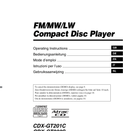 sony cdx gt200s user manual 92 pages [ 954 x 1352 Pixel ]