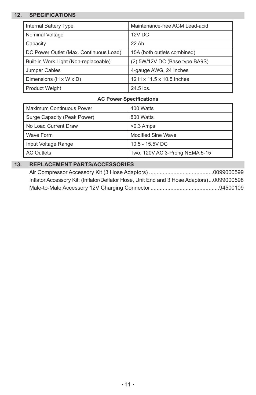 Sears Diehard Portable Power 1150 28.71988 User Manual