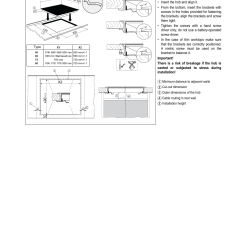 Smeg Induction Hob Wiring Diagram Car Towing Socket Instructions For Assembly Gb Glass Ceramic Se2642id2 User Manual Page 16 17