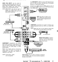 getting started audio video connections sanyo dp42841 user manual page 7 44 [ 954 x 1159 Pixel ]