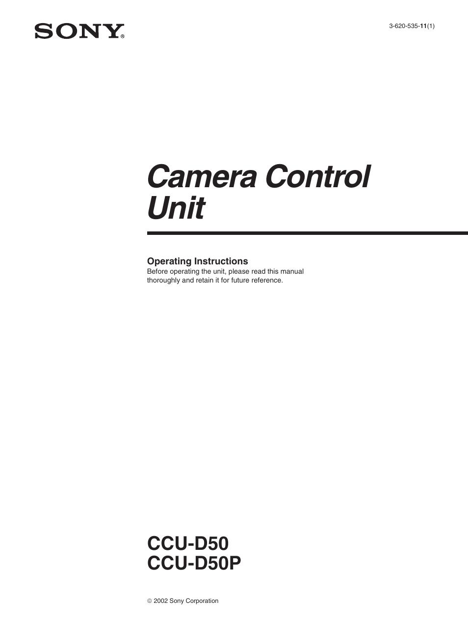 CCU D50 MANUAL PDF