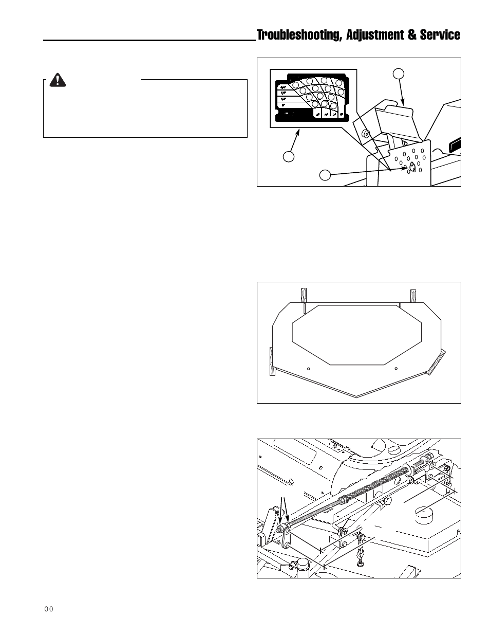 medium resolution of troubleshooting adjustment service warning cutting height adjustment simplicity zt2561f user manual page 31 44
