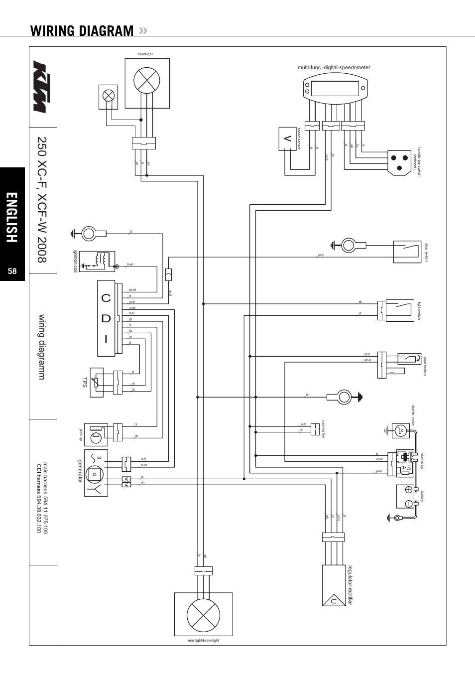 ktm 250 exc wiring diagram