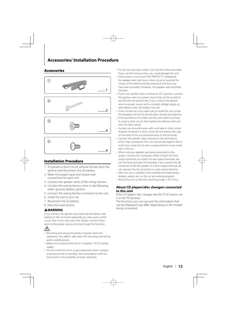 hight resolution of accessories installation procedure kenwood kdc mp142 user manual page 15 56