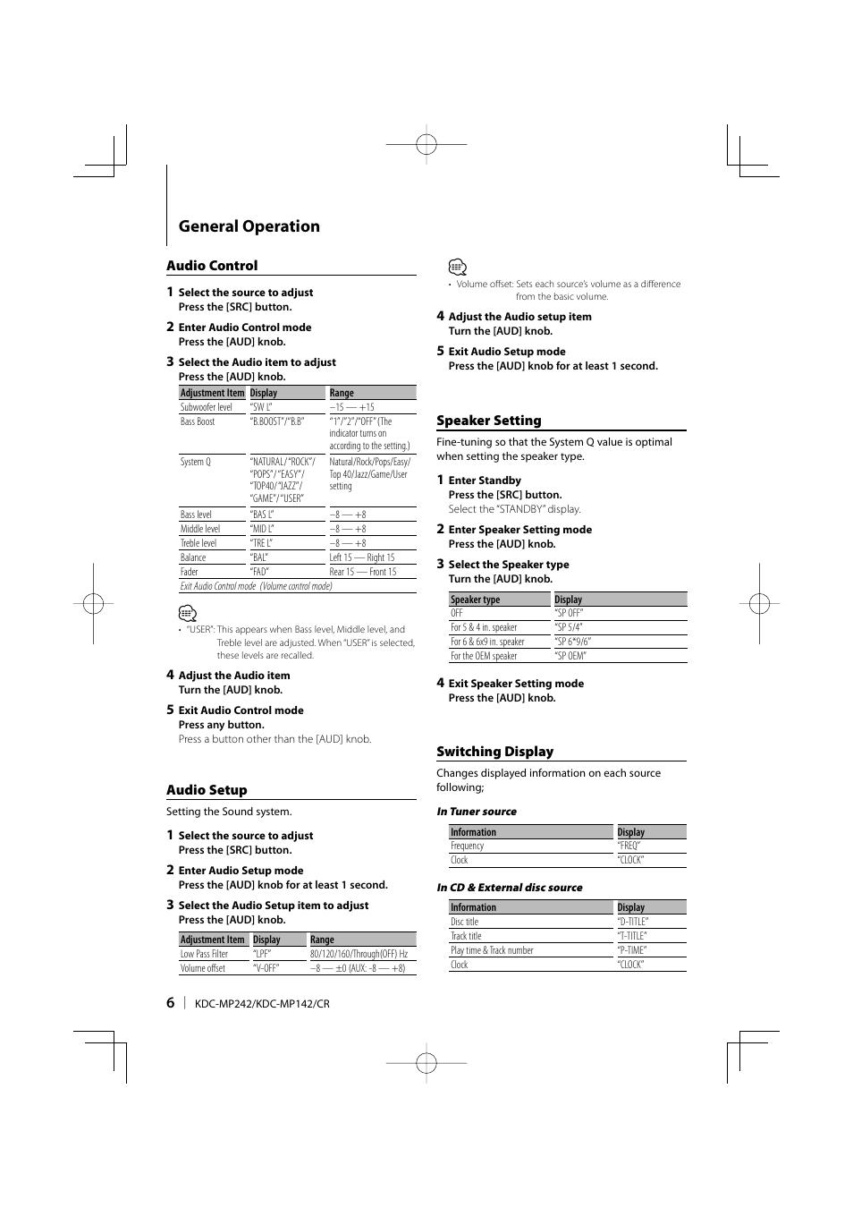 medium resolution of kenwood kdc mp249 user s manual page 2 free