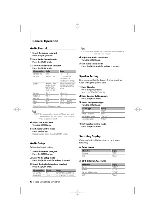 small resolution of kenwood kdc mp249 user s manual page 2 free