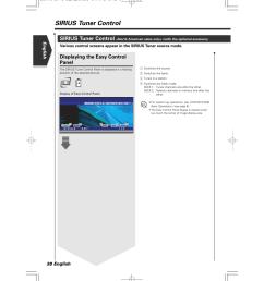 sirius tuner control displaying the easy control panel english 38 english kenwood excelon [ 954 x 1351 Pixel ]