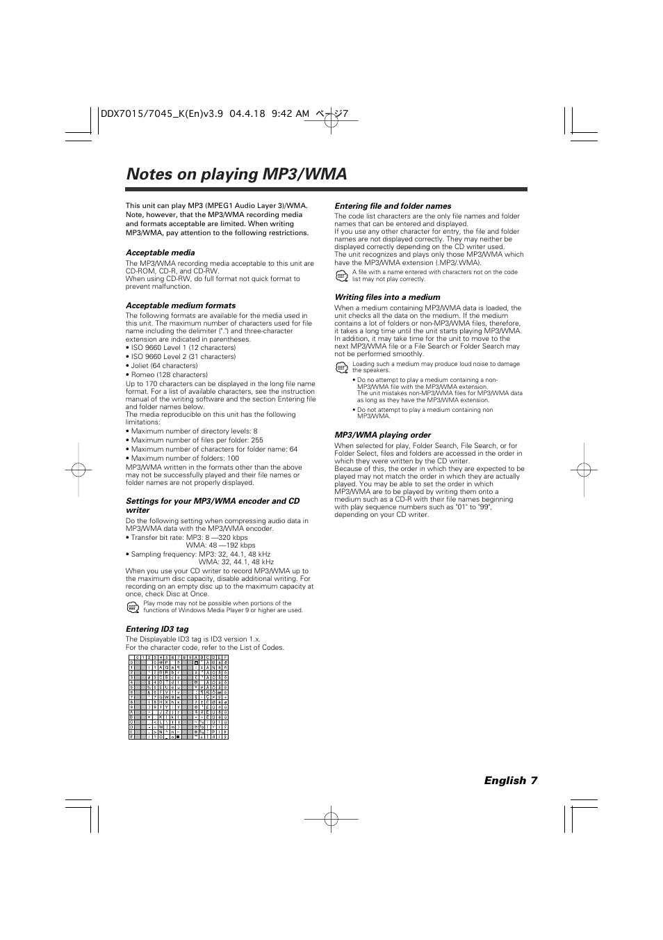 hight resolution of english 7 kenwood excelon ddx7015 user manual page 7 101