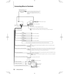 wiring diagram on connecting wires to terminals kenwood dpx503 user manual page 32 on  [ 955 x 1350 Pixel ]