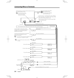 connecting wires to terminals kenwood kdc mp205 user manual page kenwood kdc 400u wiring diagram kenwood kdc mp205 wiring diagram [ 955 x 1350 Pixel ]