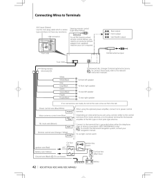 connecting wires to terminals kenwood kdc bt742u user manual schematic diagram connecting wires to terminals kenwood [ 955 x 1350 Pixel ]