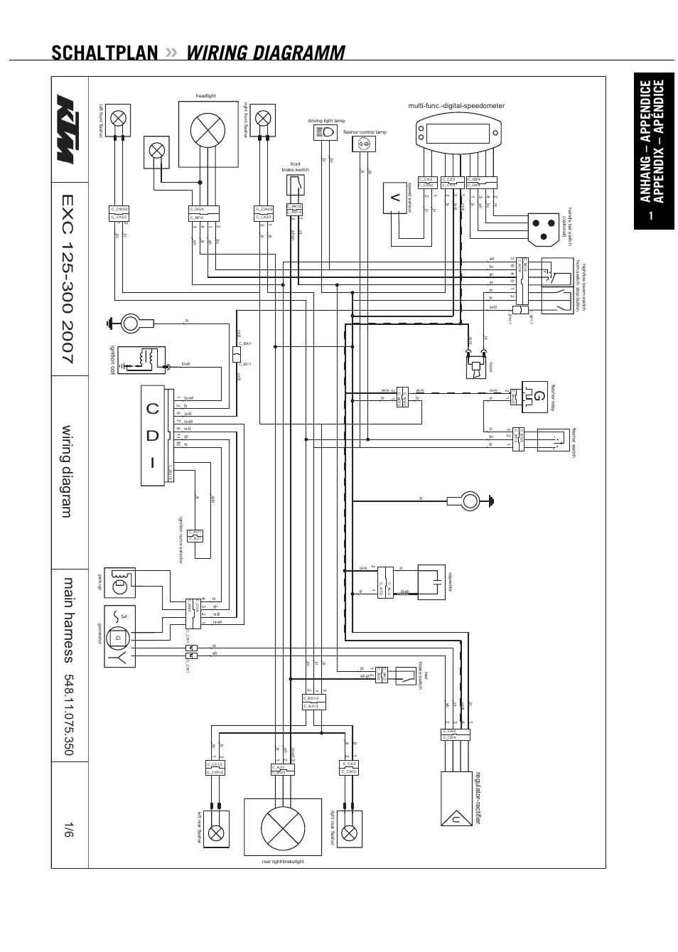 medium resolution of schaltplan wiring diagramm cd i ktm exc 200 xc de user manual page 58 69