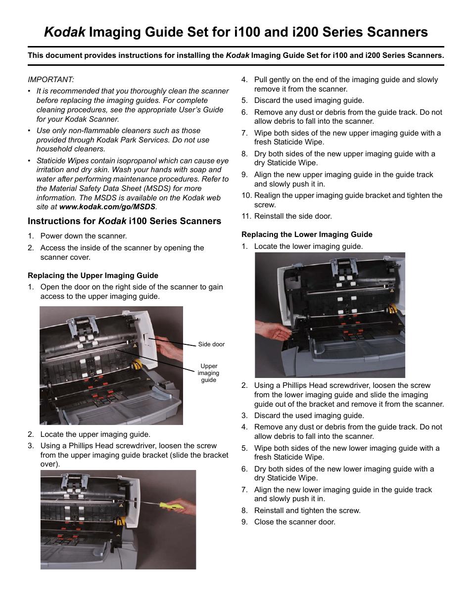kodak i100 user manual