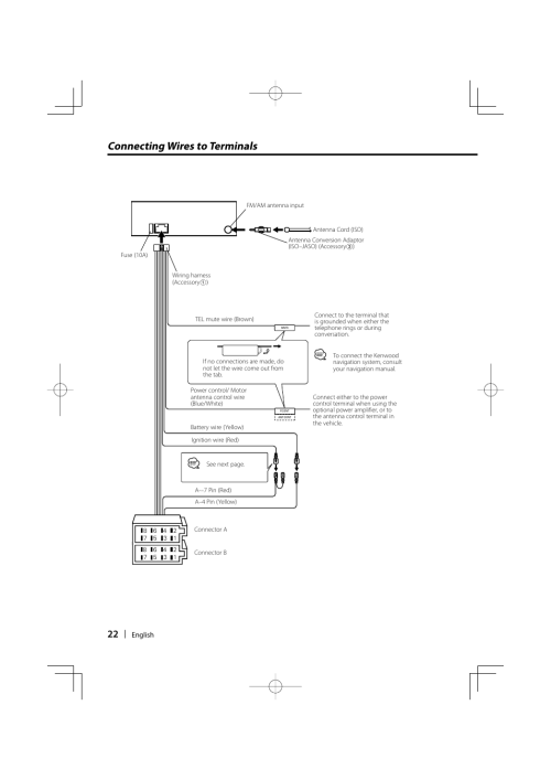 small resolution of connecting wires to terminals kenwood kdc 237 user manual page 22 28
