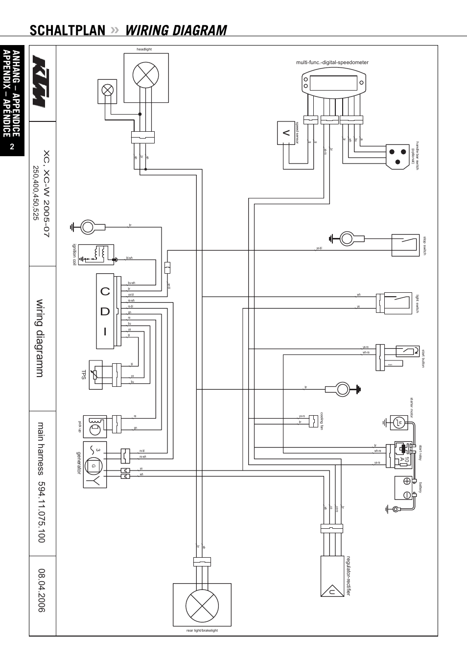 ktm 200 exc wiring diagram 2006 ktm 525 exc wiring diagram ktm 525 sx wiring diagram | wiring diagram