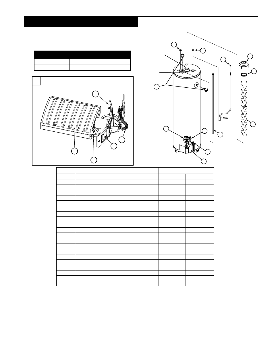 Parts order list, Power miser™ 9 gas water heater, Model