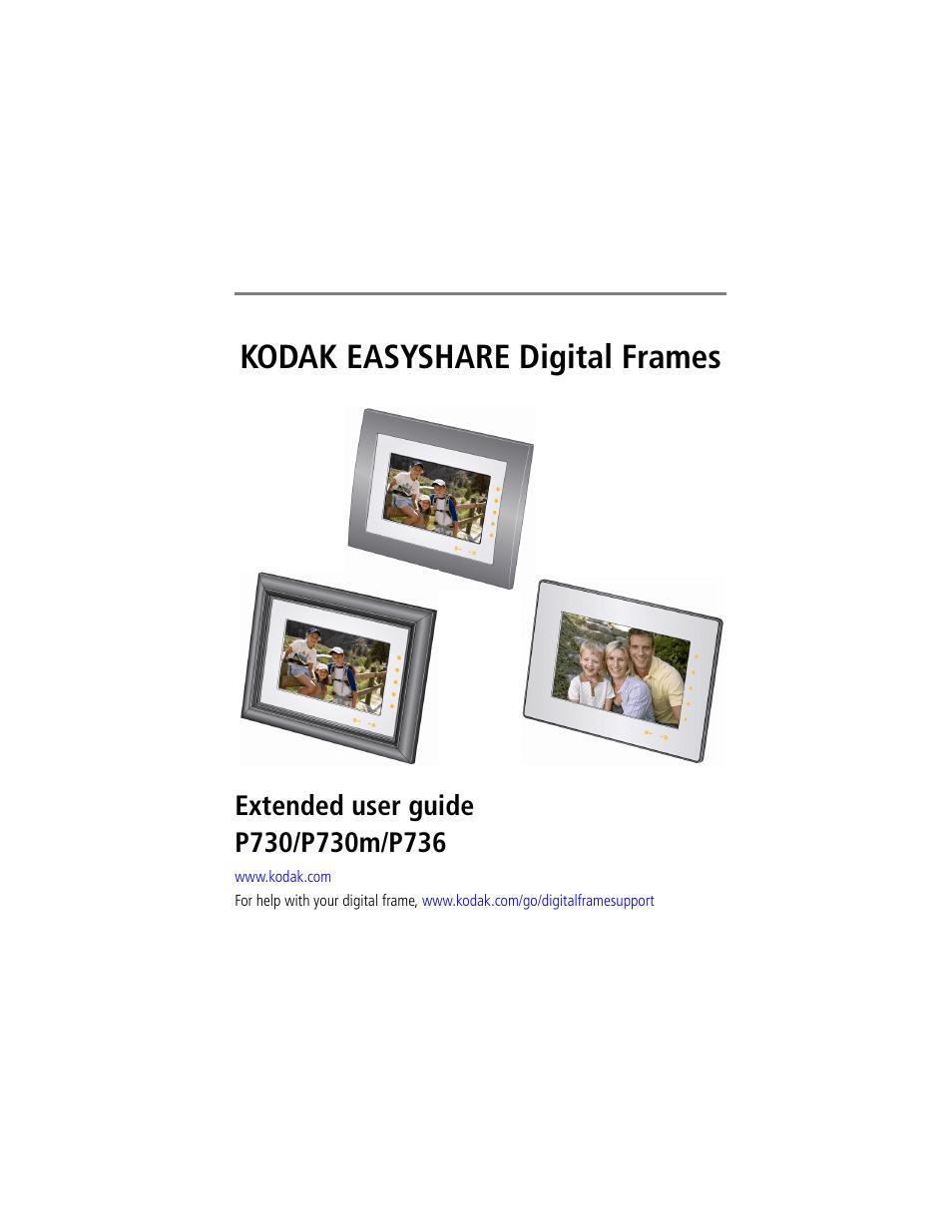 KODAK EASYSHARE P730 MANUAL PDF