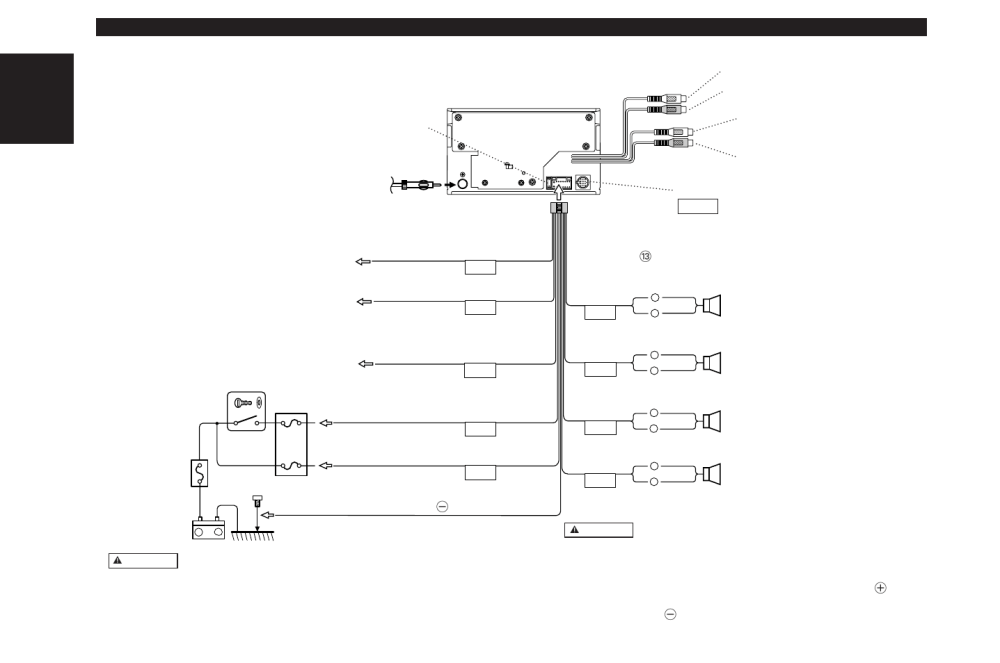 medium resolution of connecting wires to terminals english kenwood dpx 4010 user manual page 30 38