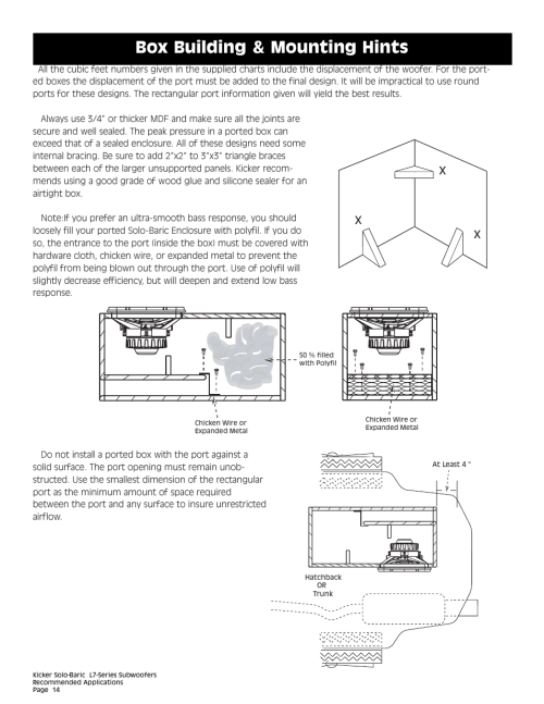 small resolution of box building mounting hints kicker l7 user manual page 14 36