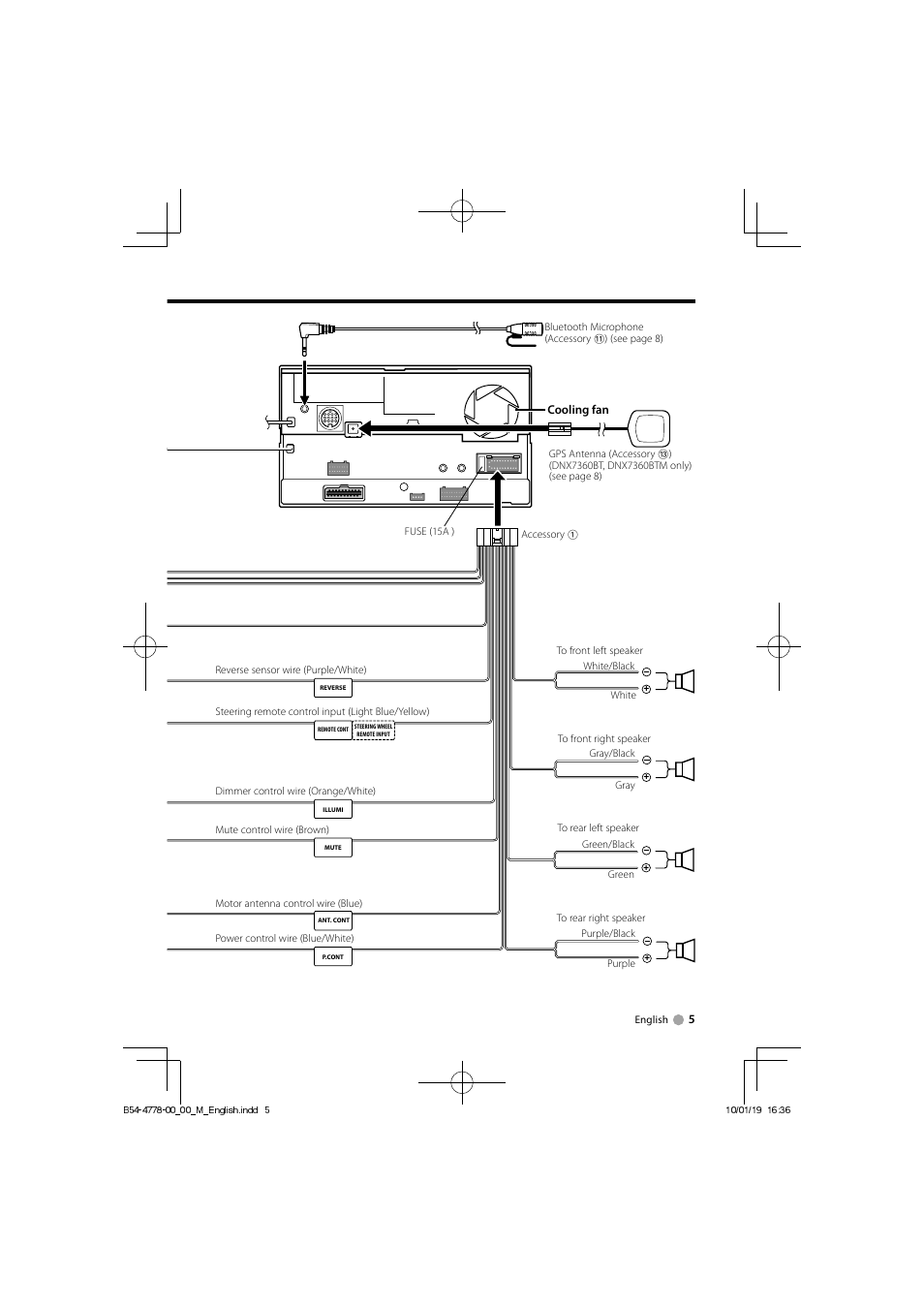 medium resolution of  wiring diagram kenwood microphone connector kenwood dnx7360bt user manual page 5 12 also for dnx7360btm on kenwood