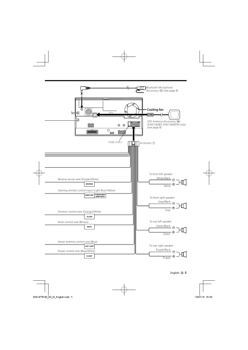 small resolution of  wiring diagram kenwood microphone connector kenwood dnx7360bt user manual page 5 12 also for dnx7360btm on kenwood