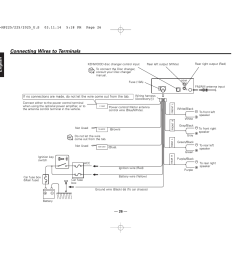connecting wires to terminals english kenwood kdc 2025 user manual page 26 [ 1351 x 954 Pixel ]