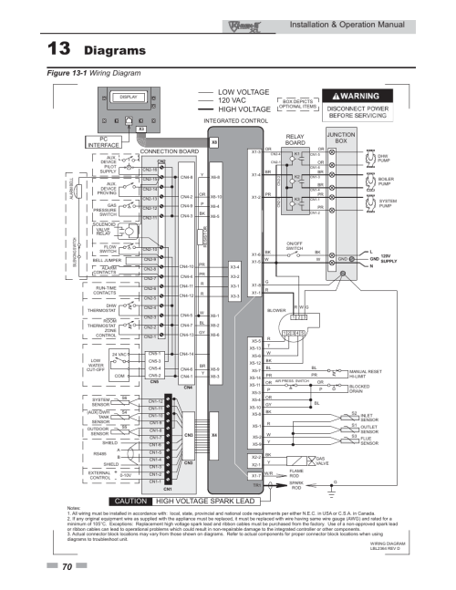 small resolution of diagrams installation operation manual figure 13 1 wiring diagram lochinvar knight xl 399 800 user manual page 70 72