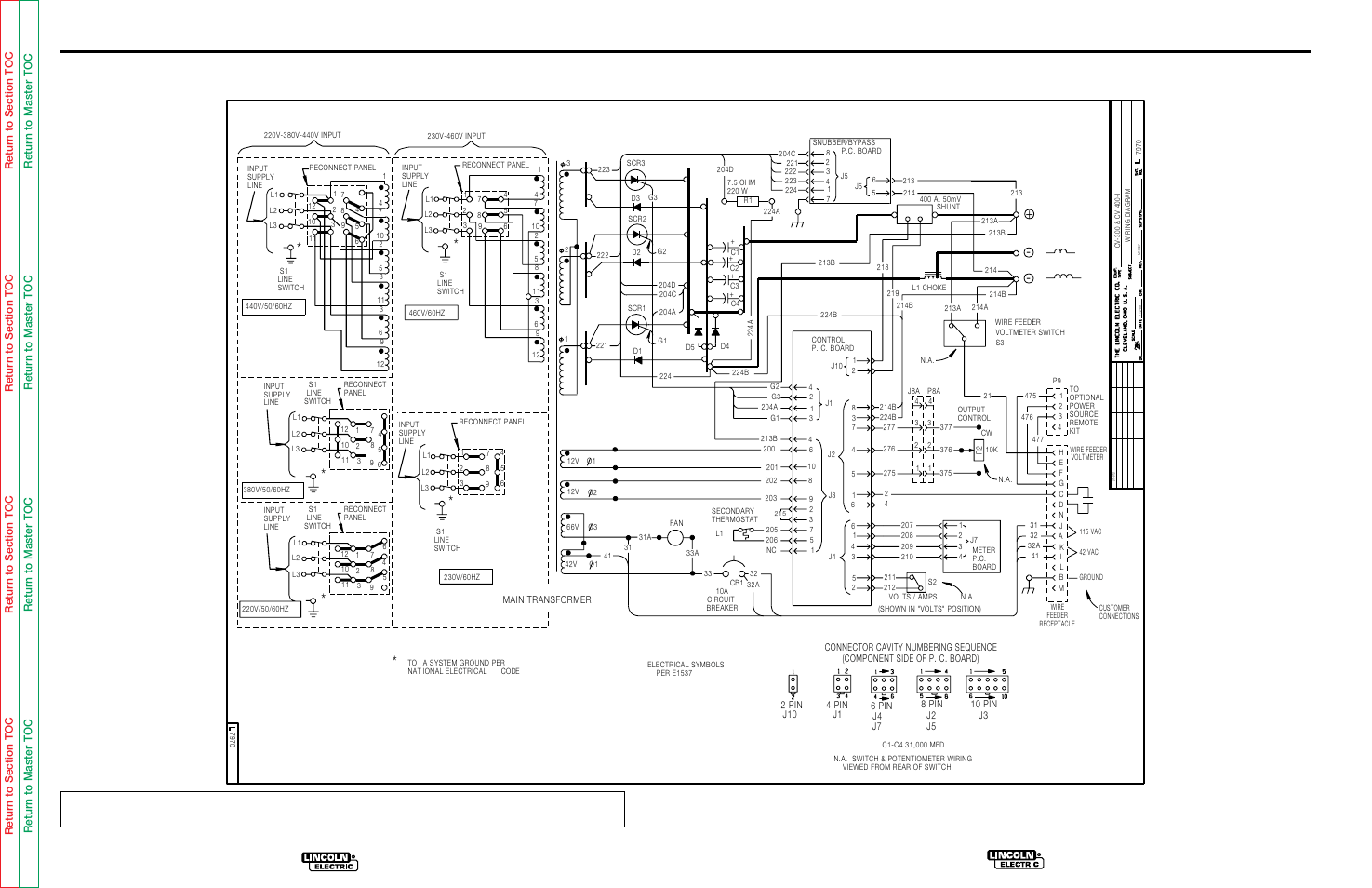 Electrical diagrams, Wiring diagram for code 9456