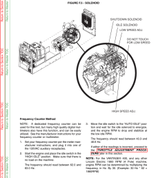 troubleshooting repair engine throttle adjustment test continued lincoln electric vantage 400 user manual page 79 166 [ 954 x 1235 Pixel ]