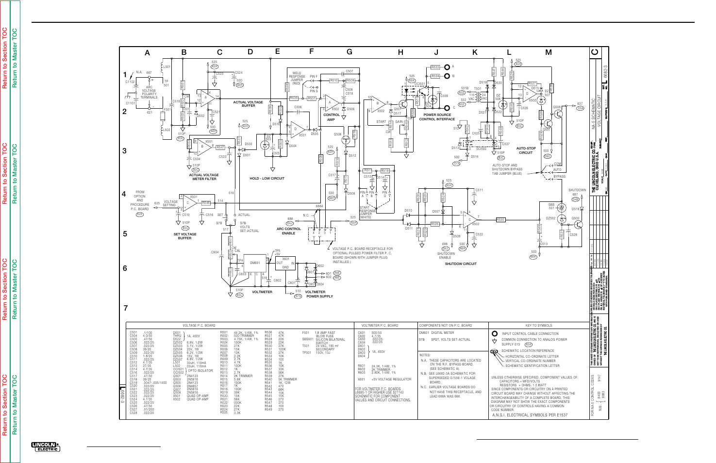 Electrical diagrams, Voltage pc board schematic, Na-5