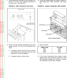 troubleshooting repair main transformer test procedure continued lincoln electric idealarc cv 305 user manual page 47 97 [ 954 x 1235 Pixel ]