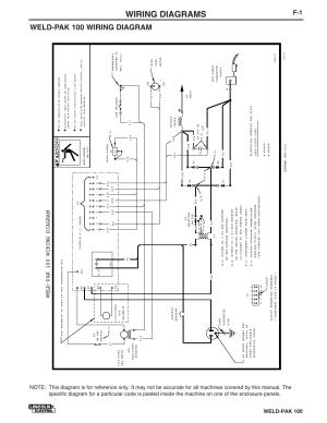 Wiring diagrams, Weldpak 100 wiring diagram, Weldpak 100