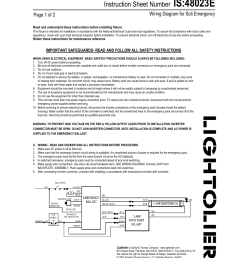 lightolier wiring diagram for soli emergency 48023e user manual 2 pages [ 954 x 1235 Pixel ]