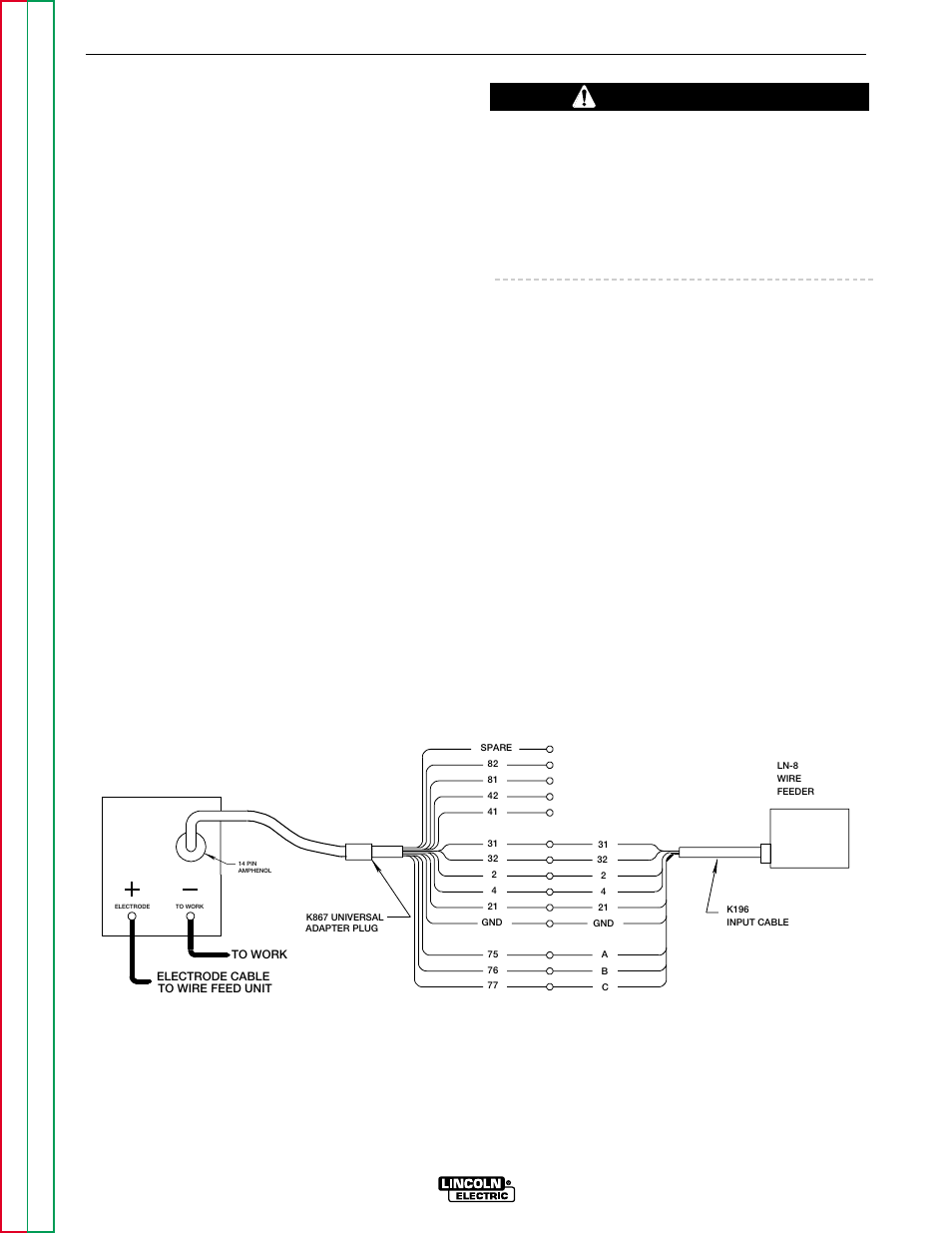 hight resolution of accessories caution lincoln electric commander svm153 a user manual page 32