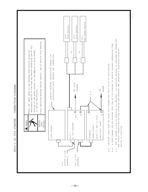 small resolution of k900 1 dc tig starter connection diagram warning lincoln electric invertec im526 b user manual page 29 40