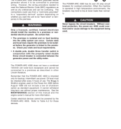 installation warning caution lincoln electric power arc 4000 user manual page 14 52 [ 954 x 1235 Pixel ]