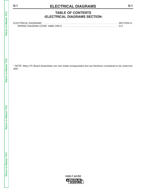 small resolution of electrical diagrams lincoln electric invertec v205 t user manual page 107 109