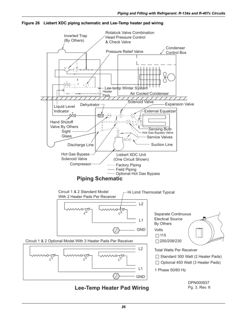 small resolution of piping schematic lee temp heater pad wiring liebert extreme density chiller xdc user manual
