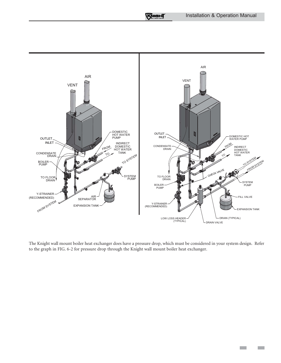 hight resolution of hydronic piping near boiler piping connections installation operation manual lochinvar knight wh 55 399 user manual page 35 80