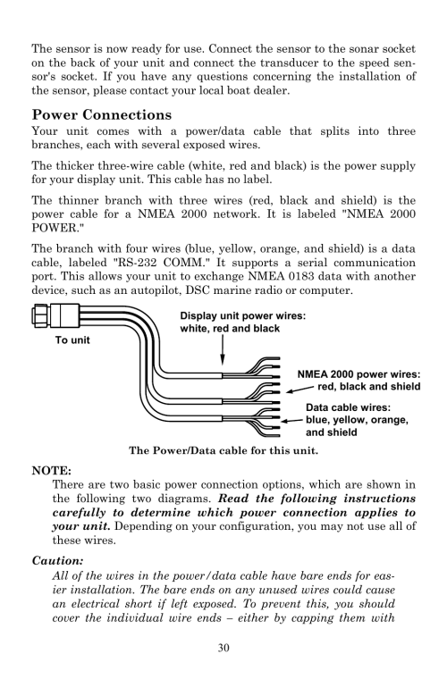 small resolution of power connections lowrance electronic lowrance lms 522c igps user manual page 40 252
