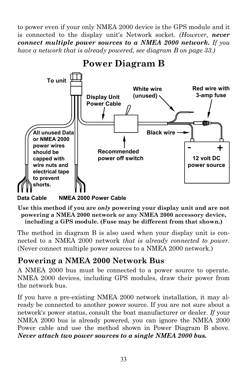 hight resolution of power diagram powering a nmea network bus lowrance electronic user manual page png 954x1487 lowrance nmea