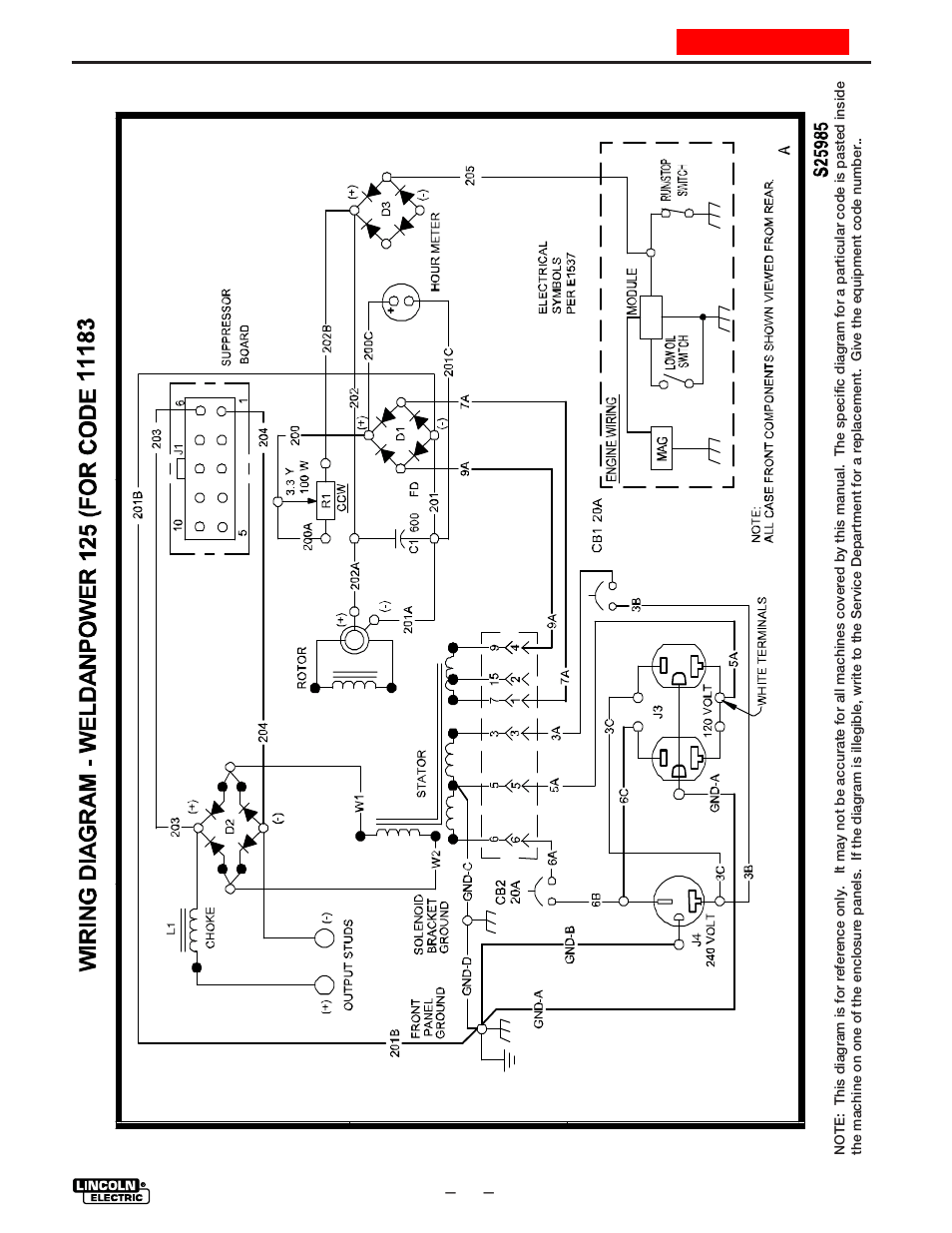 hight resolution of wiring diagram lincoln electric weldanpower 125 im530 c user manual page 33 40