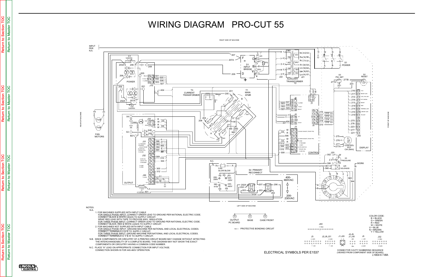 Wiring diagram pro-cut 55, Electrical diagrams, Wiring