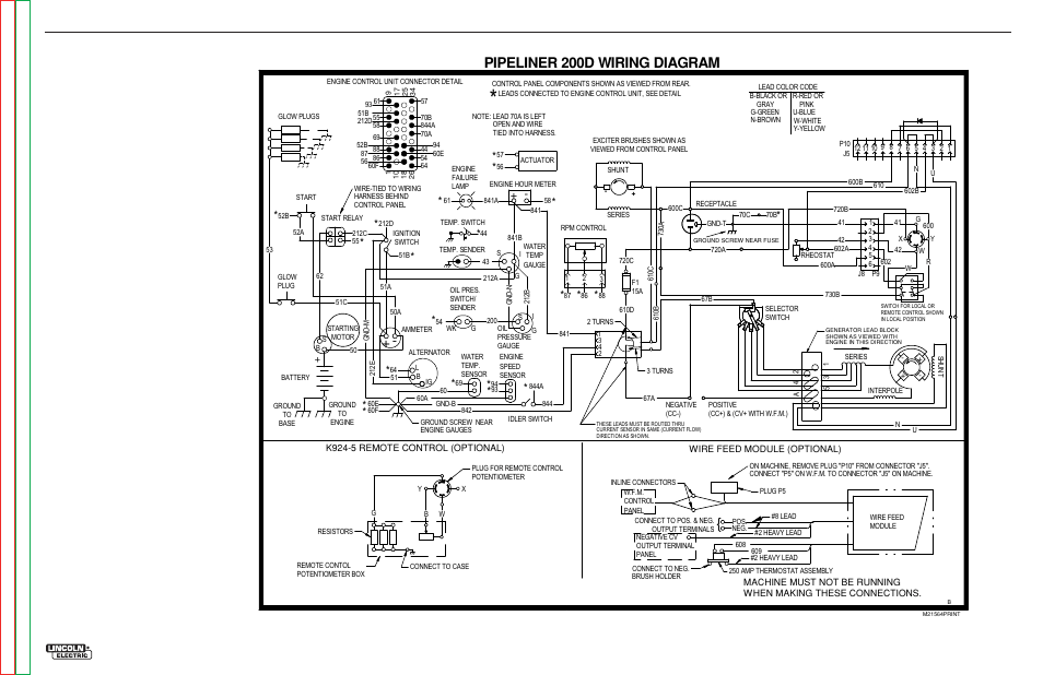 Pipeliner 200d wiring diagram, Electrical diagrams
