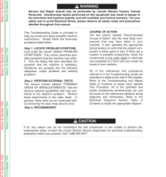 troubleshooting repair how to use troubleshooting guide warning rh manualsdir com [ 954 x 1235 Pixel ]