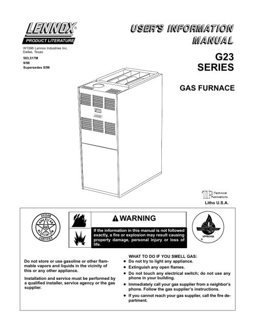 small resolution of lennox g23 wiring diagram