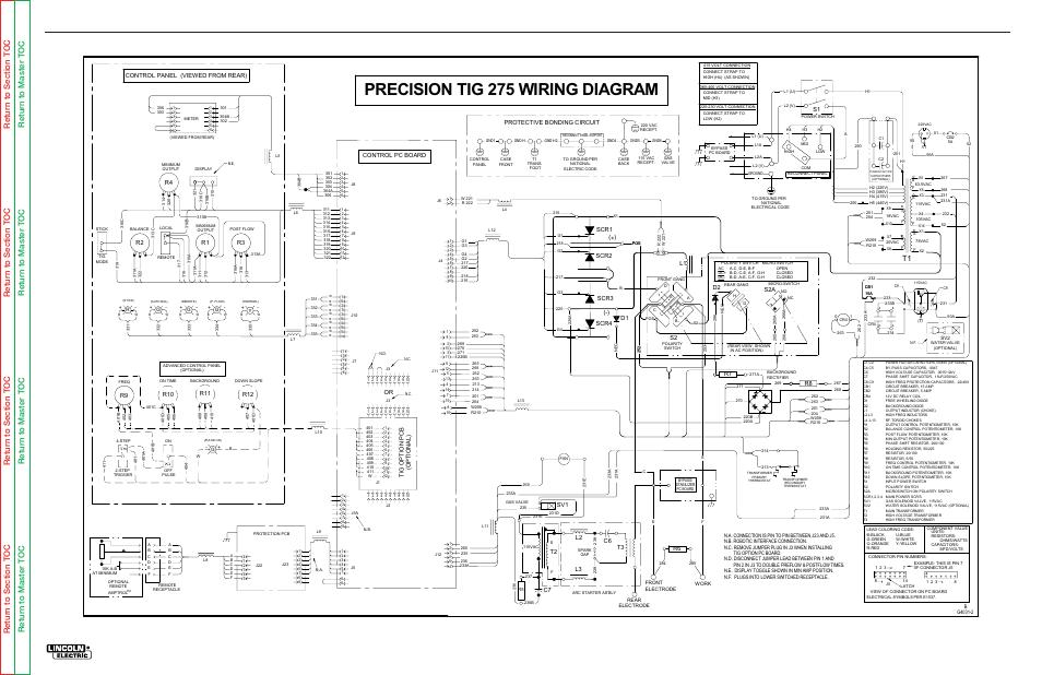 lincoln electric precision tig 275 svm162 b page112?resize\=665%2C431 lincoln g8000 wiring diagram lincoln wiring diagrams collection 2003 Chevy Silverado Radio Wiring Diagram at sewacar.co