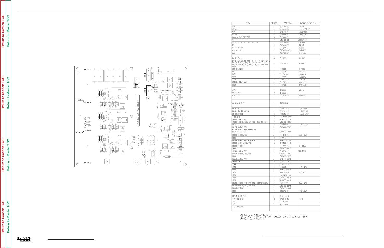 Electrical diagrams, G-10, R3r-500 control pc board