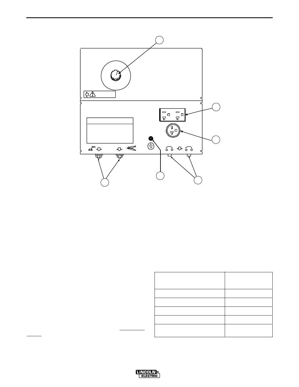 Installation, Electrical output connections, Welding cable